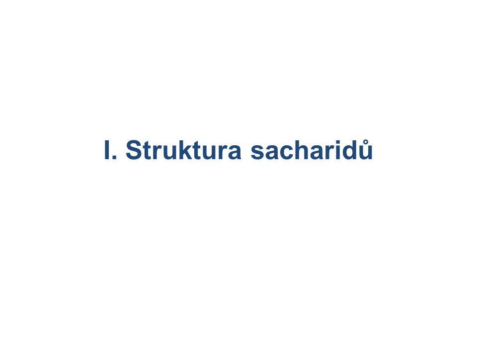 I. Struktura sacharidů