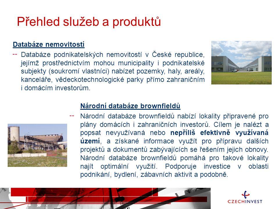 Databáze nemovitostí ╌ Databáze podnikatelských nemovitostí v České republice, jejímž prostřednictvím mohou municipality i podnikatelské subjekty (sou