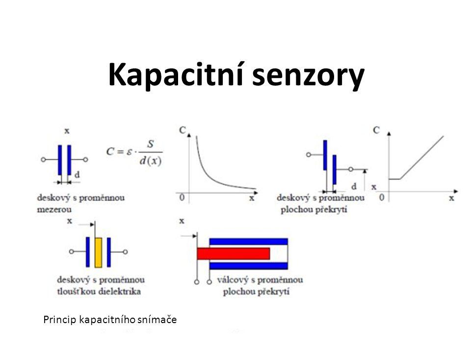 Kapacitní senzory Princip kapacitního snímače