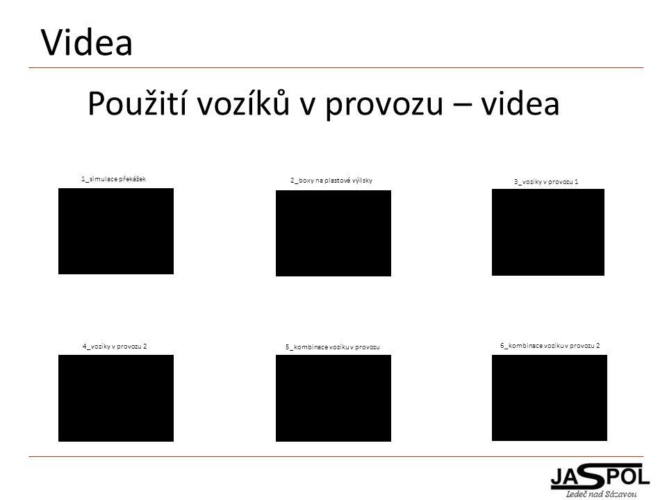 Videa Použití vozíků v provozu – videa 1_simulace překážek 2_boxy na plastové výlisky 5_kombinace vozíku v provozu 6_kombinace vozíku v provozu 2 4_vo