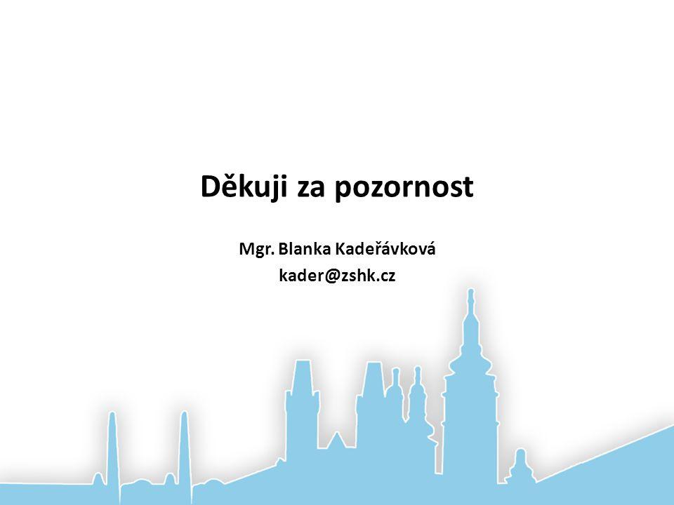 Děkuji za pozornost Mgr. Blanka Kadeřávková kader@zshk.cz