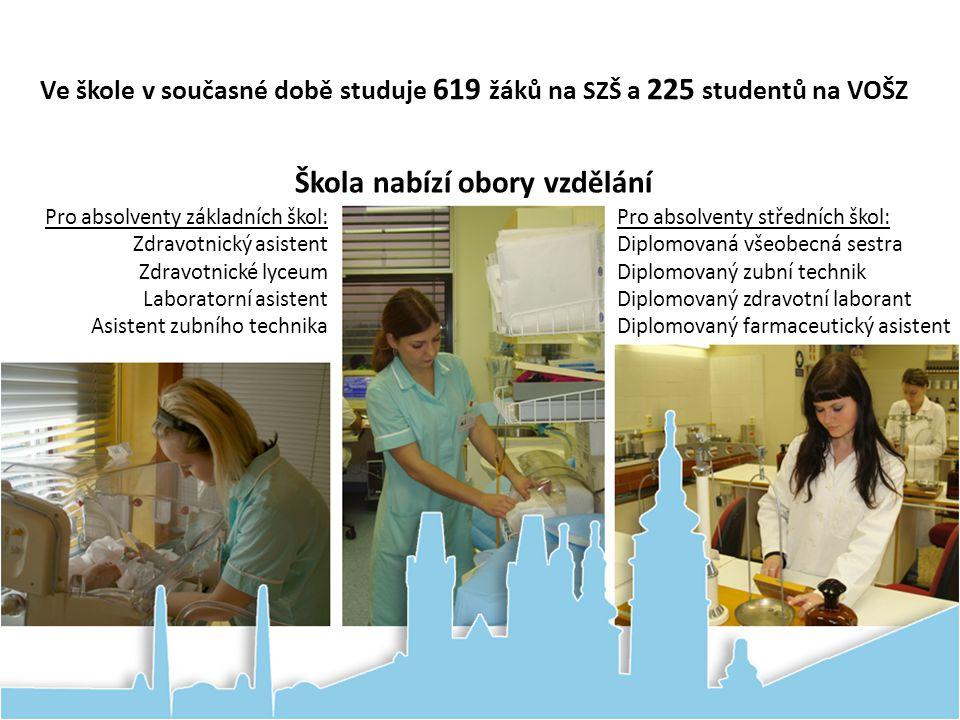 Ve škole v současné době studuje 619 žáků na SZŠ a 225 studentů na VOŠZ Pro absolventy středních škol: Diplomovaná všeobecná sestra Diplomovaný zubní