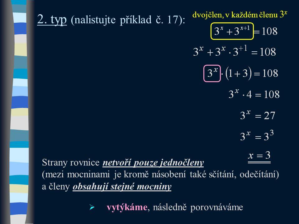 2. typ (nalistujte příklad č.