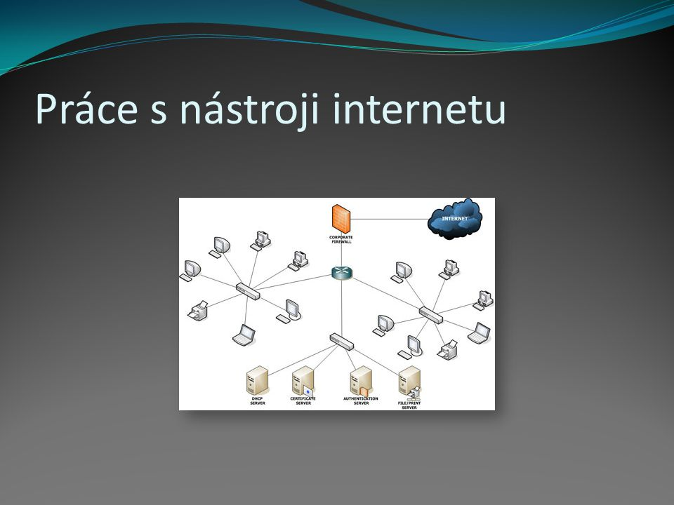 Internet – celosvětový systém navzájem propojených počítačů (sítí) Komunikační protokol TCP/IP WWW – Word Wide Web Aplikace internetového protokolu HTTP HTTP – soustava propojených hypertextových dokumentů Jedna z mnoha služeb