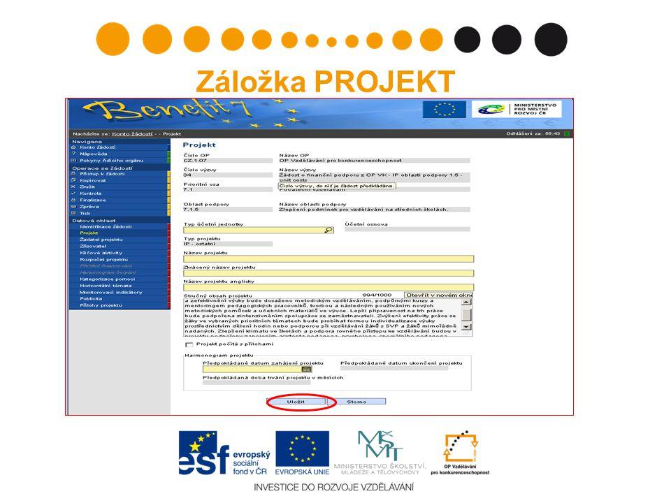 Nedostatečné zabezpečení papírové žádosti (žádost nesešita, chybí štítek, chybí podpis/razítko na štítku) proti manipulaci Tisk projektové žádosti, doplnění nedostatků, zaslání.