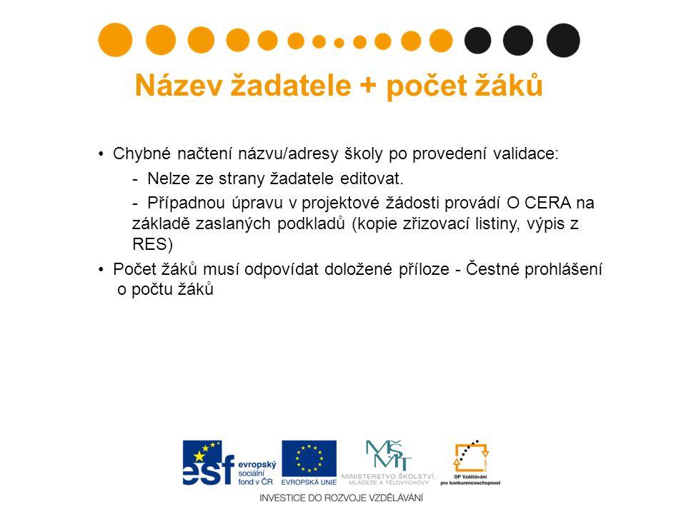 Služba ARES ošetřující IČ V případě, že by validace ARES neproběhla správně a načtená data neodpovídala skutečnosti, je nutné zařídit opravu dat: při špatném názvu subjektu je třeba obrátit se na Registr ekonomických subjektů (www.czso.cz)www.czso.cz při chybě v adrese na UIR- ADR (Ministerstvo práce a sociálních věcí)