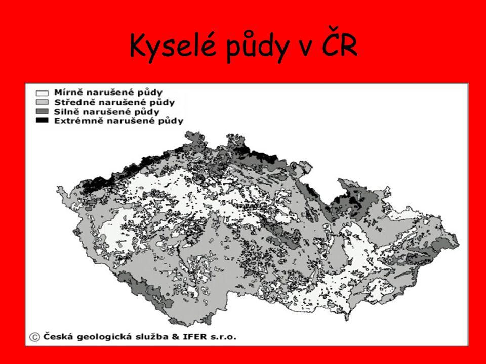 Kyselé půdy v ČR