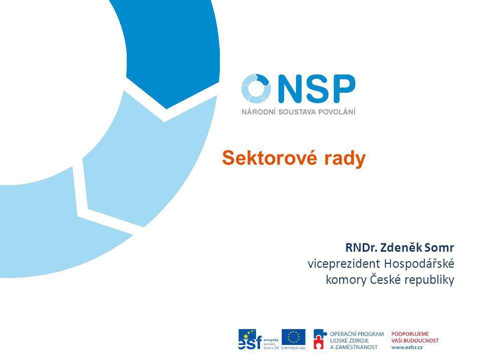 Sektorové rady RNDr. Zdeněk Somr viceprezident Hospodářské komory České republiky