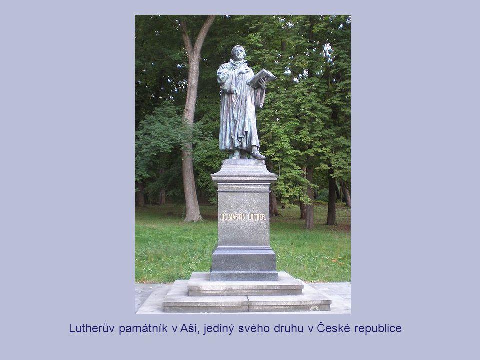 Lutherův památník v Aši, jediný svého druhu v České republice
