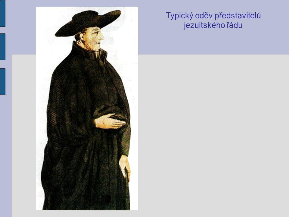 Typický oděv představitelů jezuitského řádu