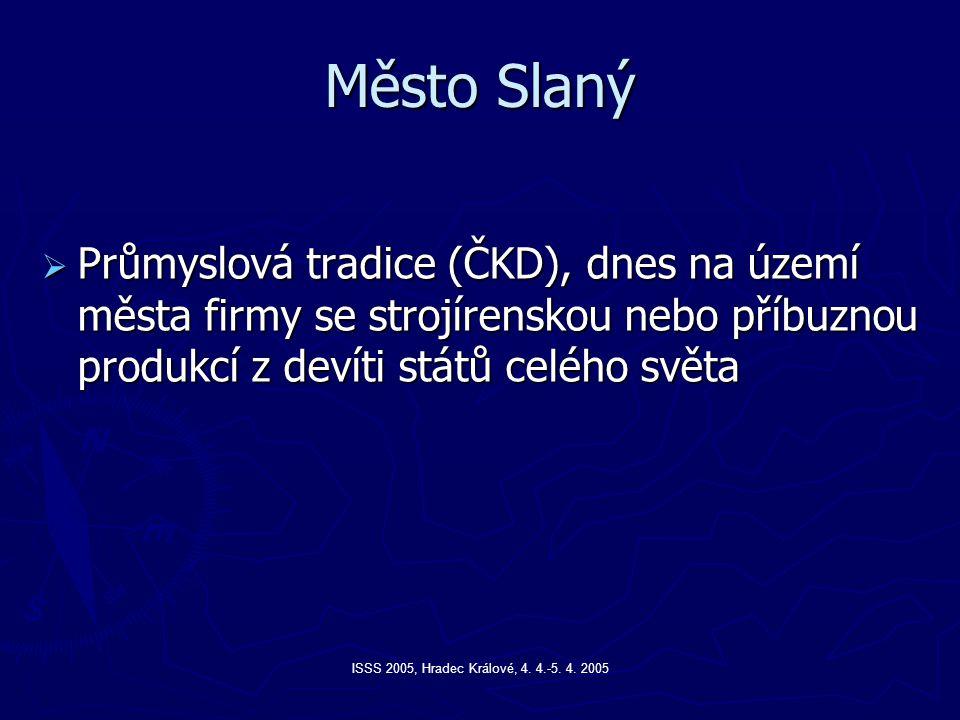 ISSS 2005, Hradec Králové, 4. 4.-5. 4. 2005 Město Slaný