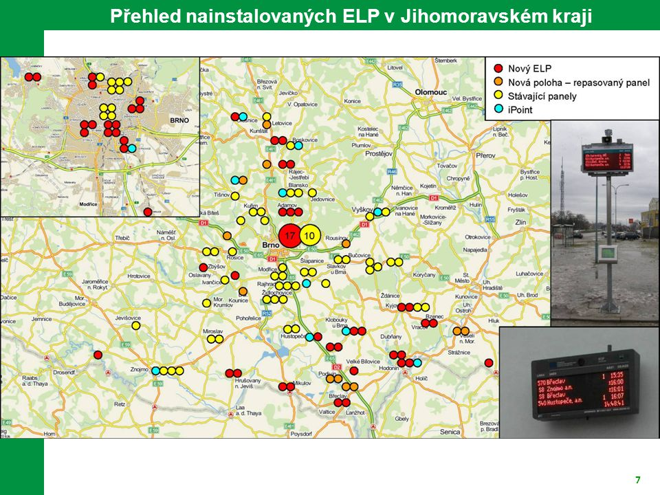 7 Přehled nainstalovaných ELP v Jihomoravském kraji