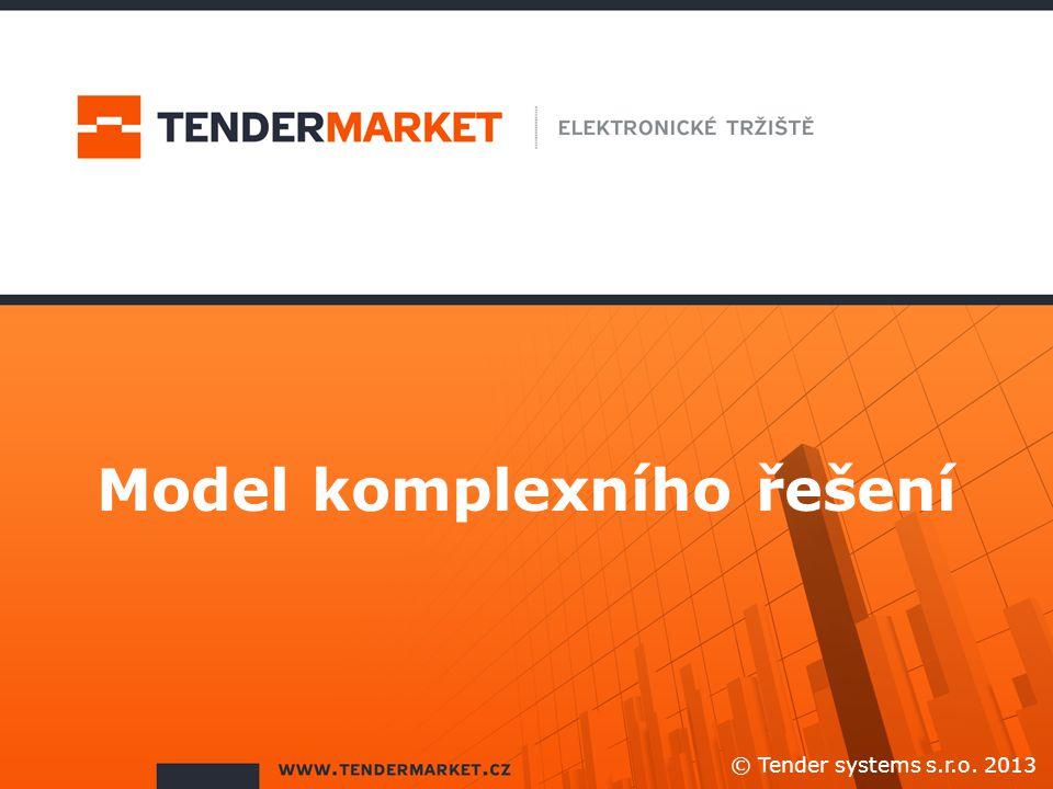 Model komplexního řešení © Tender systems s.r.o. 2013