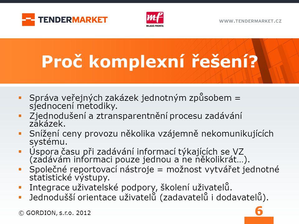 Ukázka propojení el. tržiště a el. nástroje © Tender systems s.r.o. 2013