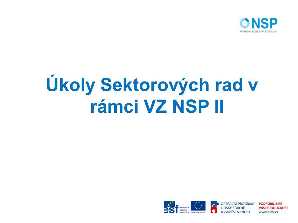 Úkoly Sektorových rad v rámci VZ NSP II
