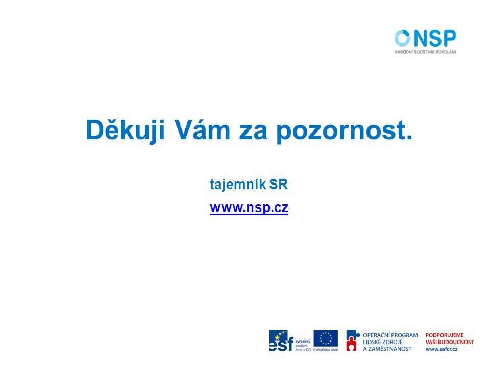 Děkuji Vám za pozornost. tajemník SR www.nsp.cz