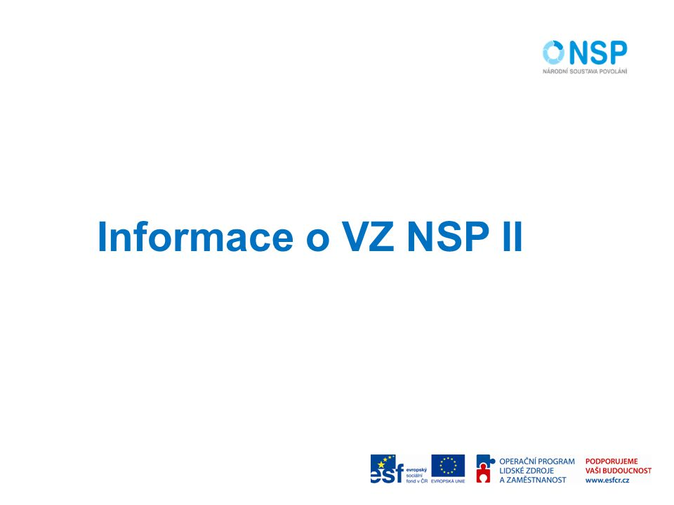 Informace o VZ NSP II