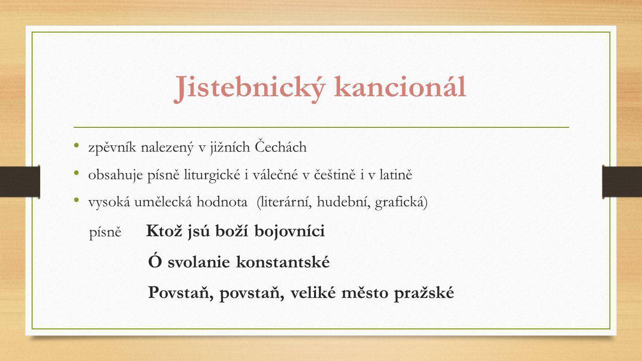 Další památky literatury doby husitské /20. léta 15. století/