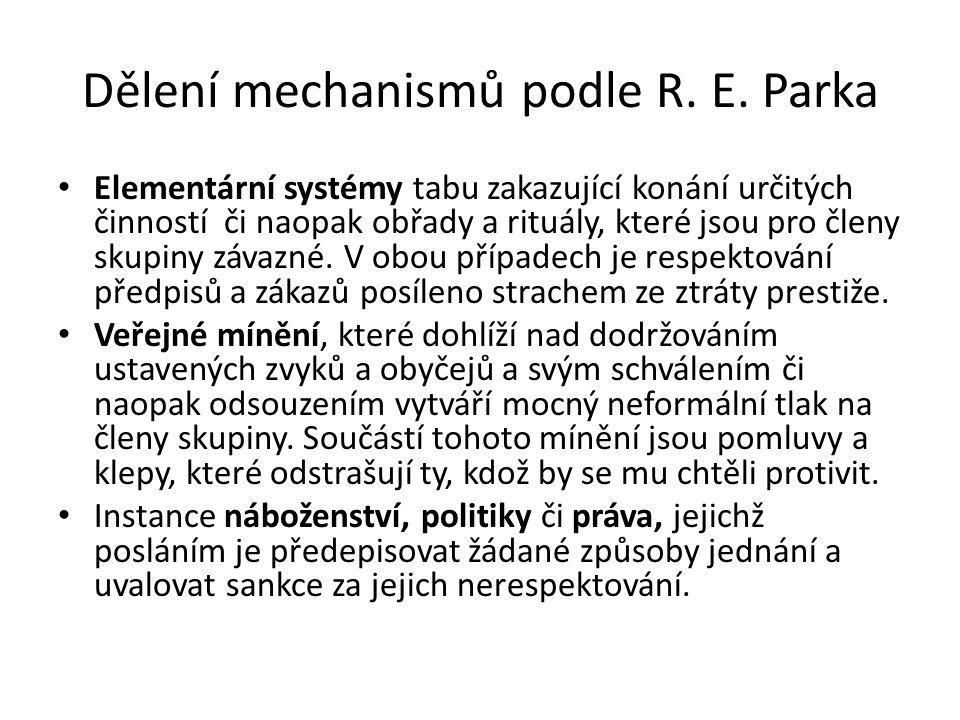 Dělení mechanismů podle R.E.