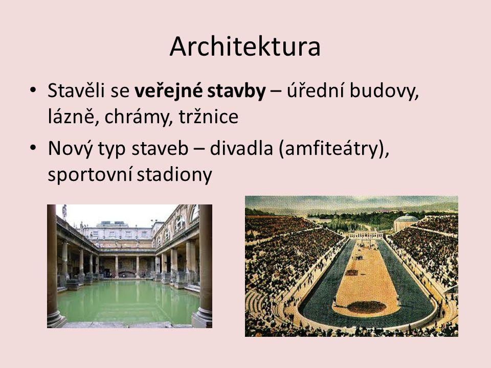 Architektura Základní znaky: Sloupy Římsa Štít