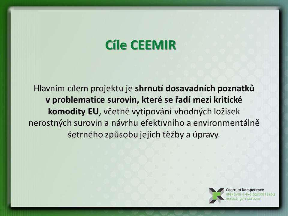 Výzkum možnosti využití v minulosti zpřístupněných ložisek v ČR.