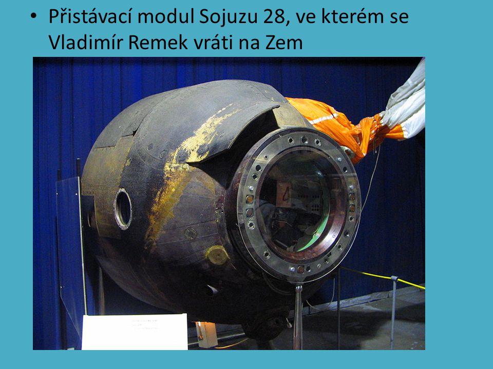 Přistávací modul Sojuzu 28, ve kterém se Vladimír Remek vráti na Zem