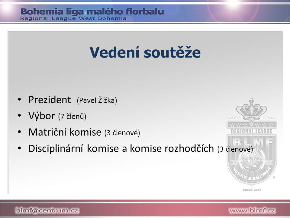 Vedení soutěže Prezident (Pavel Žižka) Výbor (7 členů) Matriční komise (3 členové) Disciplinární komise a komise rozhodčích (3 členové)