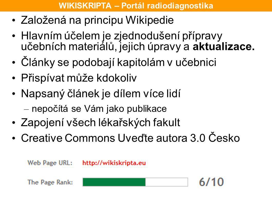 Založená na principu Wikipedie Hlavním účelem je zjednodušení přípravy učebních materiálů, jejich úpravy a aktualizace. Články se podobají kapitolám v