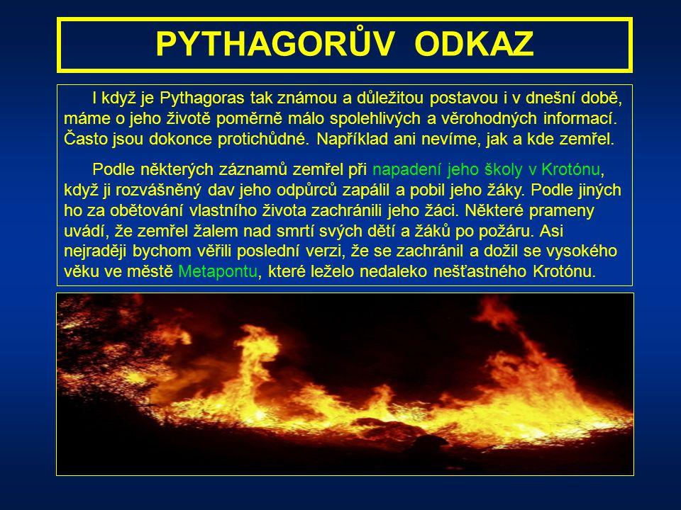 PYTHAGOROVA HUDBA Pythagoras zjistil stejný číselný poměr 2 : 4 : 6 : 8 : 9 : 12 : 16 i při svých pokusech se zvony, a dokonce i s obyčejnými sklenice