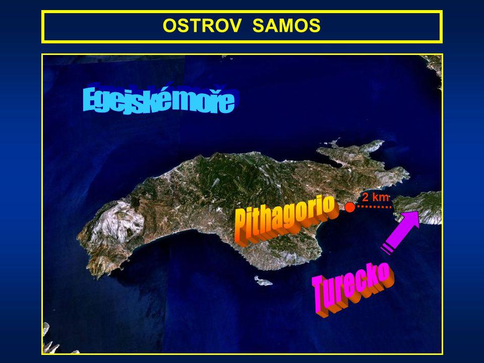 narodil se v rodině obchodníka na řeckém ostrově Samos jeho otec Mnesarchus pocházel z fénického města Tyros a matka Pythais ze Samu podle pověsti byl