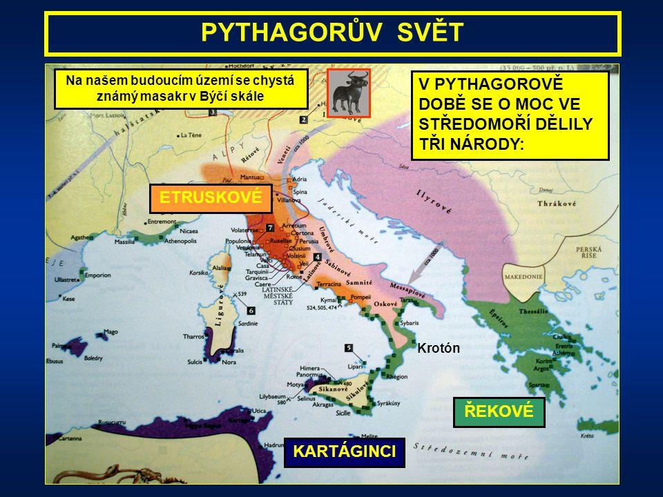 po nastolení perské nadvlády na ostrově Samos se Pythagoras odstěhoval na jih Itálie do starobylé řecké osady Krotón Krotón (dnešní Cortone) - Pythago
