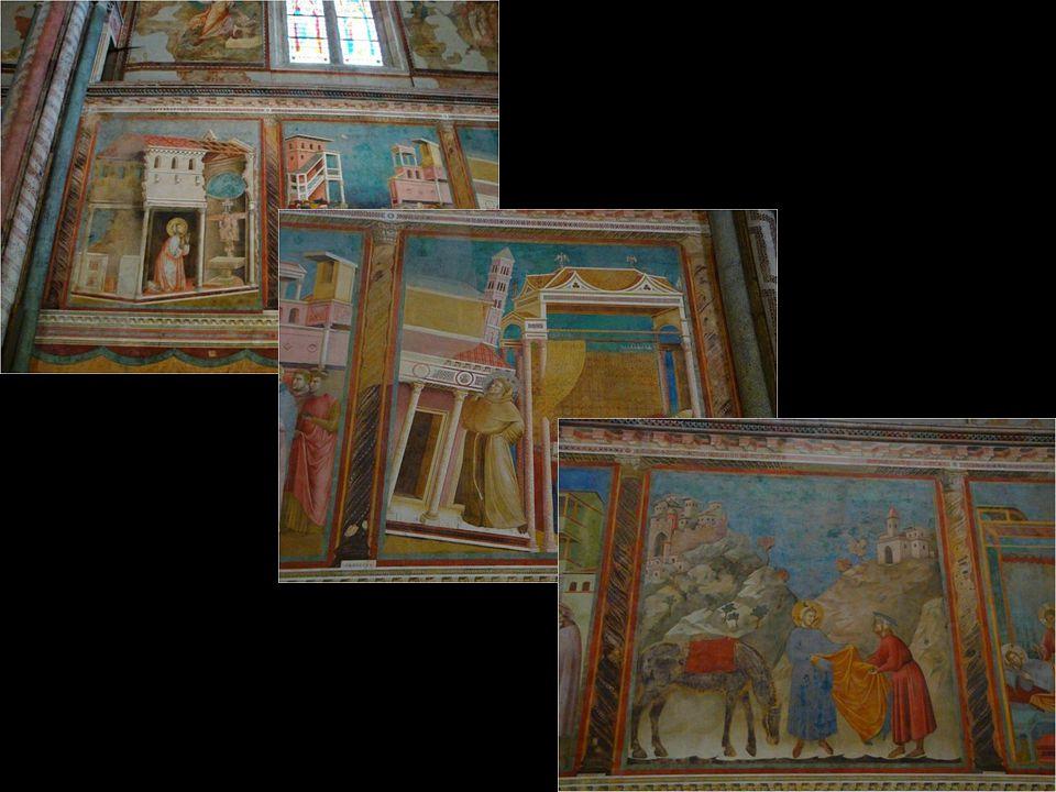 V bazilice sv. Františka se nachází 28 dílný cyklus fresek z Františkova života od středověkého malíře Giotta. Byly zničeny po zemětřesení v roce 1997