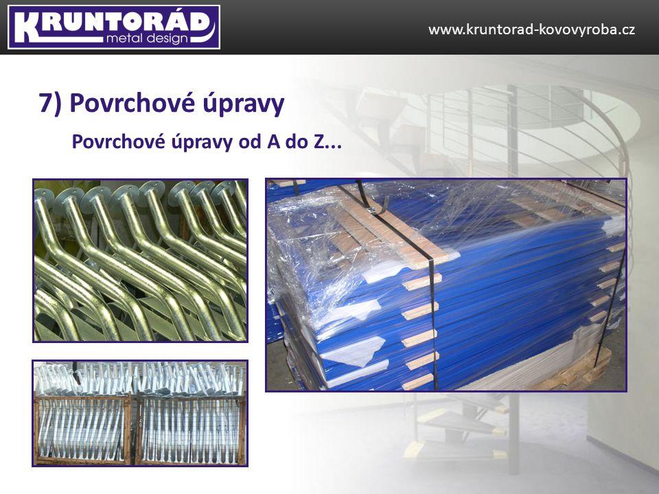 Povrchové úpravy od A do Z... www.kruntorad-kovovyroba.cz 7) Povrchové úpravy
