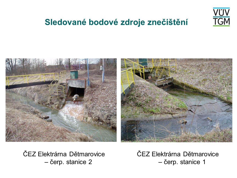 Sledované bodové zdroje znečištění ČEZ Elektrárna Dětmarovice – čerp.