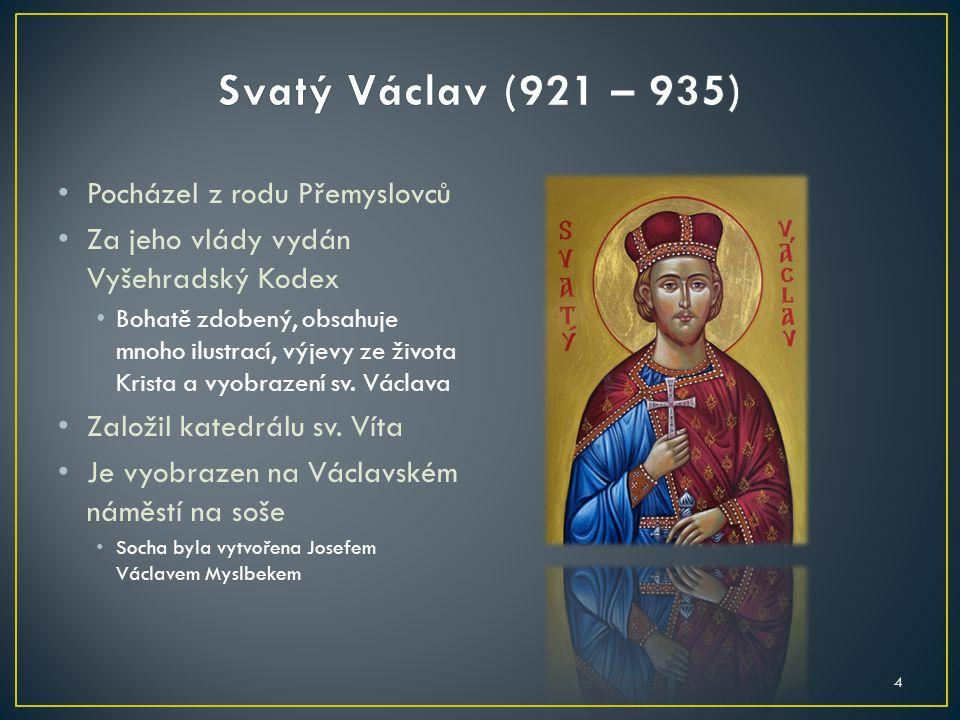 Byl první král, který se stal také císařem Svaté říše římské Roku 1348 založil Nové Město Pražské Roku 1356 vydal Zlatou bulu pro říši Stala se tehdejší ústavou Svaté říše římské 5