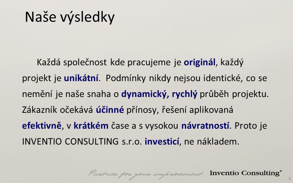 6.Naše historie  Společnost INVENTIO CONSULTING s.r.o.