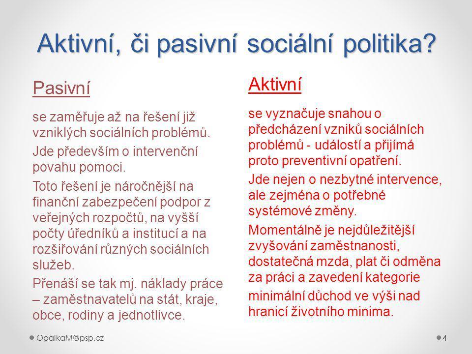 OpalkaM@psp.cz 4 444 Aktivní, či pasivní sociální politika.
