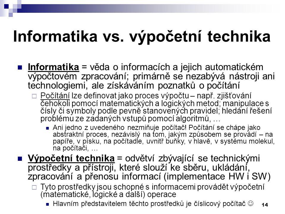 14 Informatika vs.