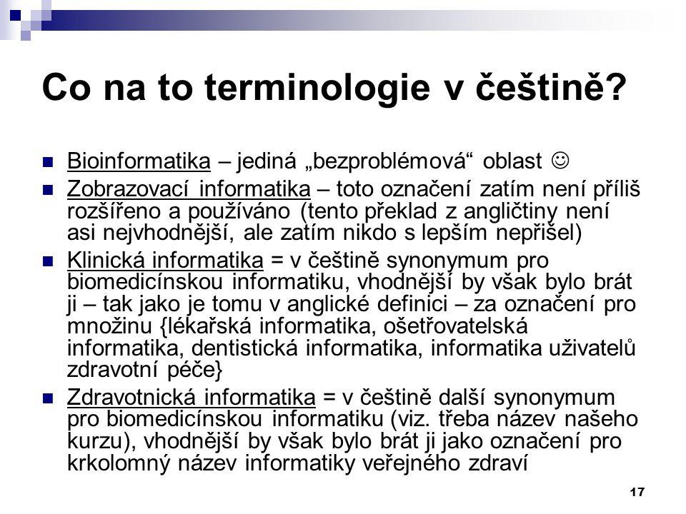 17 Co na to terminologie v češtině.