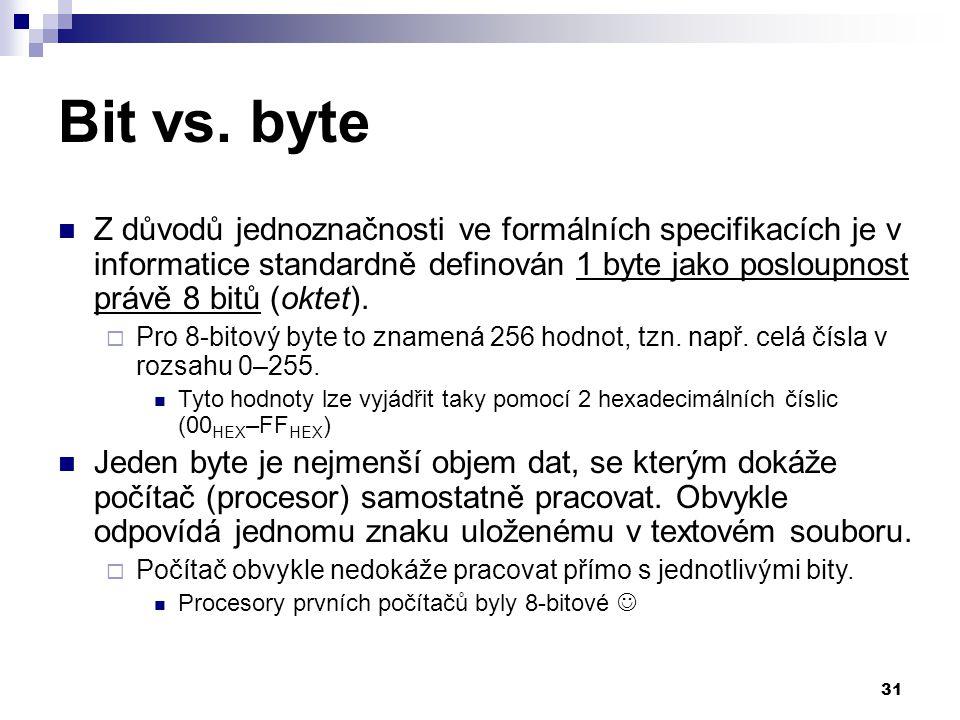 31 Bit vs.