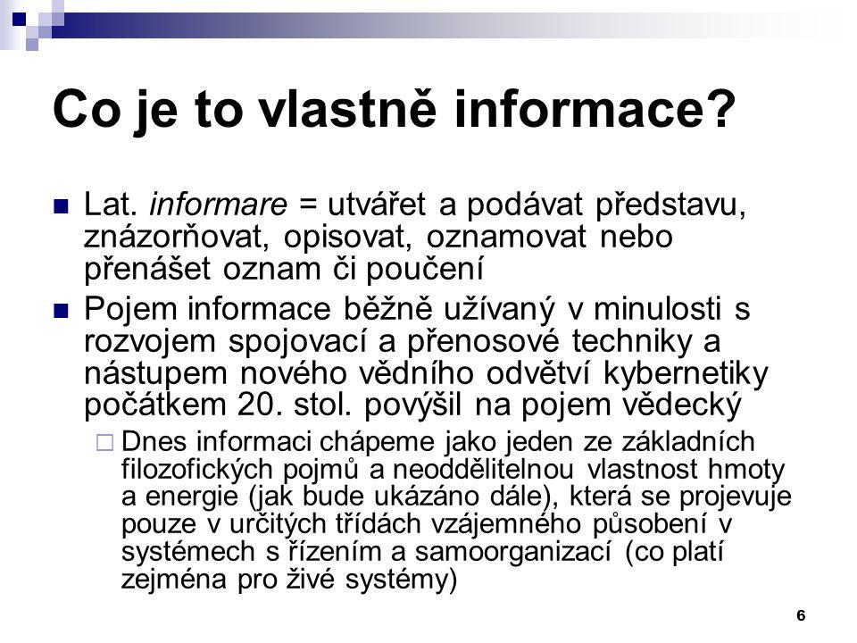 87 Medicínská informace a rozhodování Data a informace získané od pacienta, resp.