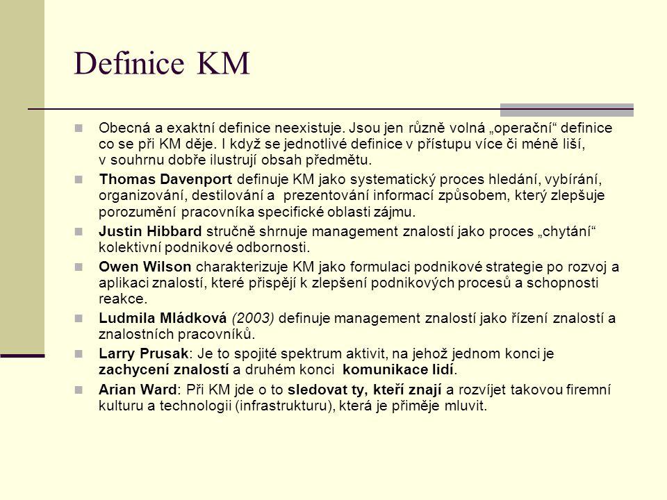 Definice KM Obecná a exaktní definice neexistuje.
