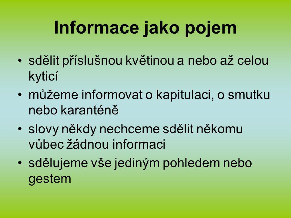 Informace jako pojem zkratky dlouhých názvů, hudebních znělek, nálepek či odznaků a erbů značky pro fyzikální jednotky a chemické sloučeniny tvar informace je však také houslový klíč v notovém partu