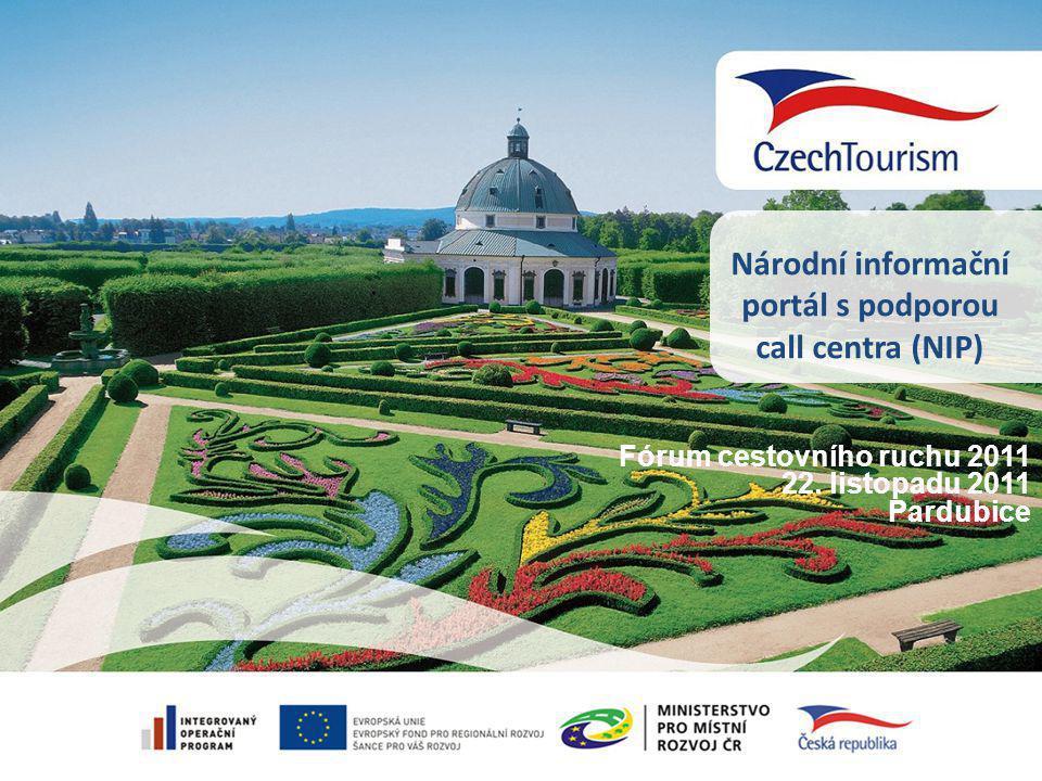 Národní informační portál s podporou call centra (NIP) Fórum cestovního ruchu 2011 22.