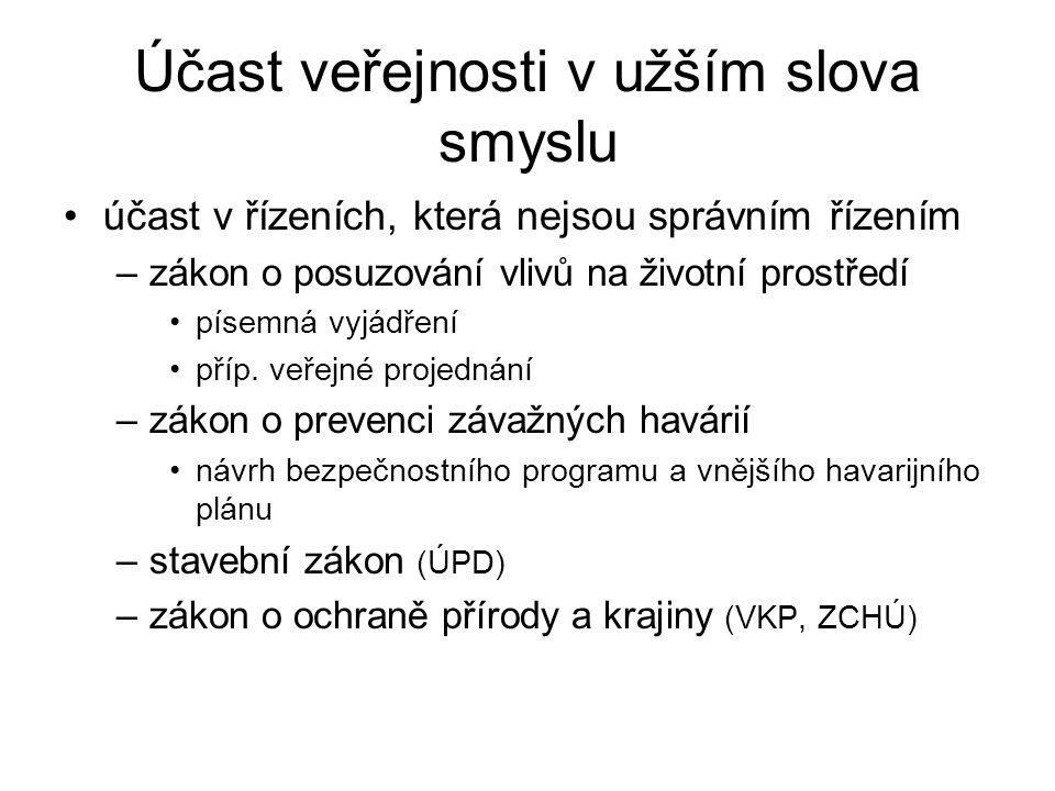 Účast veřejnosti v širším slova smyslu výkon práva shromažďovacího –čl.