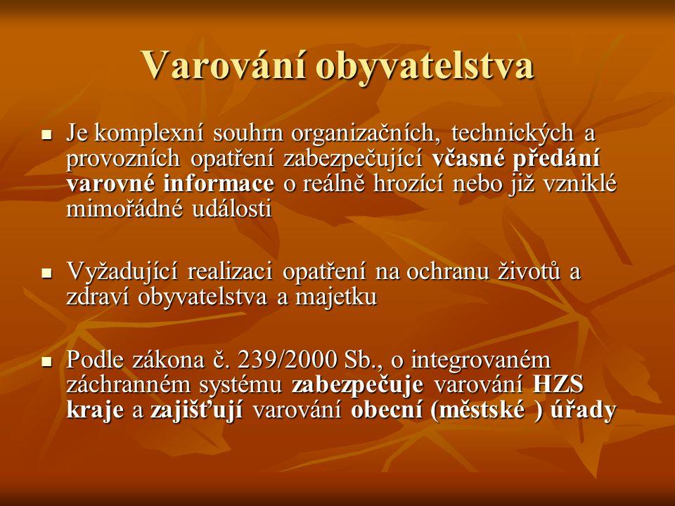 Jednotný systém varování a vyrozumění Je provozován v ČR, jeho technická infrastruktura je tvořena systémem selektivního radiového návěštění (SSRN) Je provozován v ČR, jeho technická infrastruktura je tvořena systémem selektivního radiového návěštění (SSRN) Ten umožňuje dálkové ovládání koncových prvků varování v plném rozsahu jejich provozních možností (včetně prvotního tísňového informování) a umožňuje provádět vyrozumění na osobní přijímače (pagery) Ten umožňuje dálkové ovládání koncových prvků varování v plném rozsahu jejich provozních možností (včetně prvotního tísňového informování) a umožňuje provádět vyrozumění na osobní přijímače (pagery)