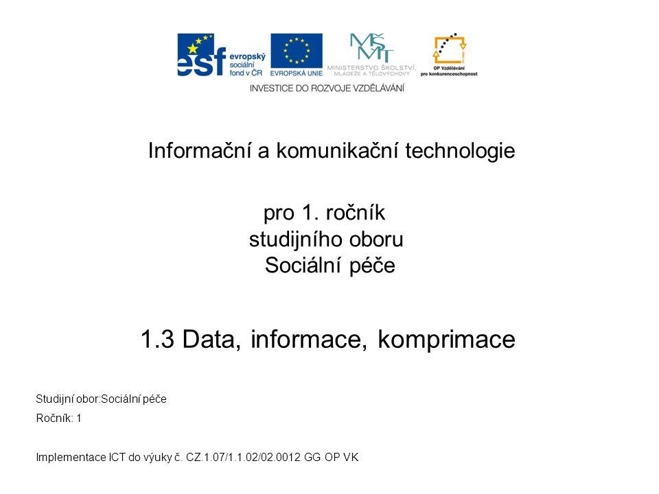 Komprimace - jak na to - MAC OS Implementace ICT do výuky č.