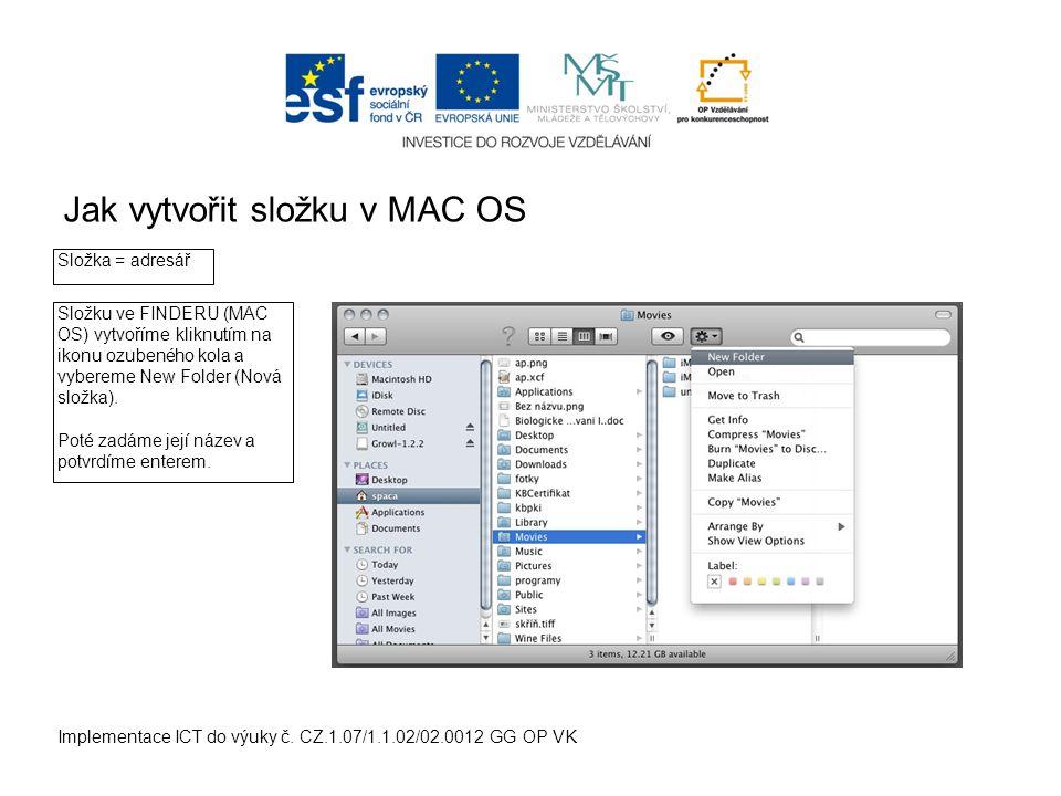 Jak vytvořit složku ve Windows Implementace ICT do výuky č.
