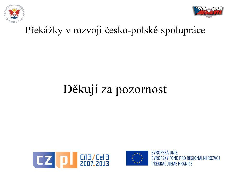 Překážky v rozvoji česko-polské spolupráce Děkuji za pozornost