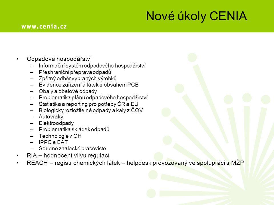 Geoportál CENIA Portál veřejné správy ČR http://geoportal.cenia.czhttp://geoportal.cenia.cz –přes 40 tématických úloh